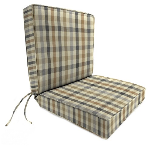 Outdoor Boxed Edge Dining Chair Cushion In Sunbrella Connect Dune - Jordan Manufacturing - image 1 of 2