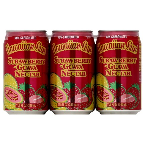 Hawaiian Sun Strawberry Guava Nectar - 6pk/11.5 fl oz Cans - image 1 of 3