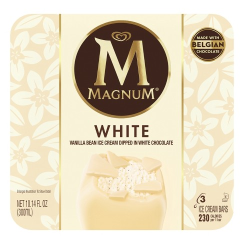 Magnum White Chocolate Ice Cream Bars - 3ct - image 1 of 7