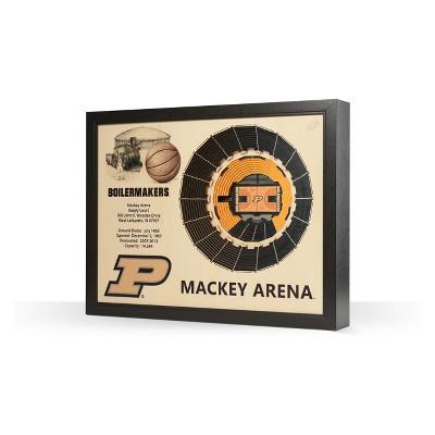 12 x 8 Purdue Boilermakers Basketball Stadium NCAA Purdue Boilermakers 3D StadiumViews Picture Frame Team Color