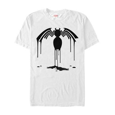 Men's Marvel Venom Logo Drip Pattern T-Shirt