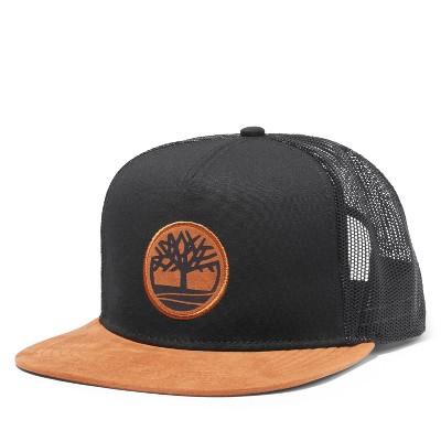 Timberland Men's Faux Suede-Brim Trucker Hat