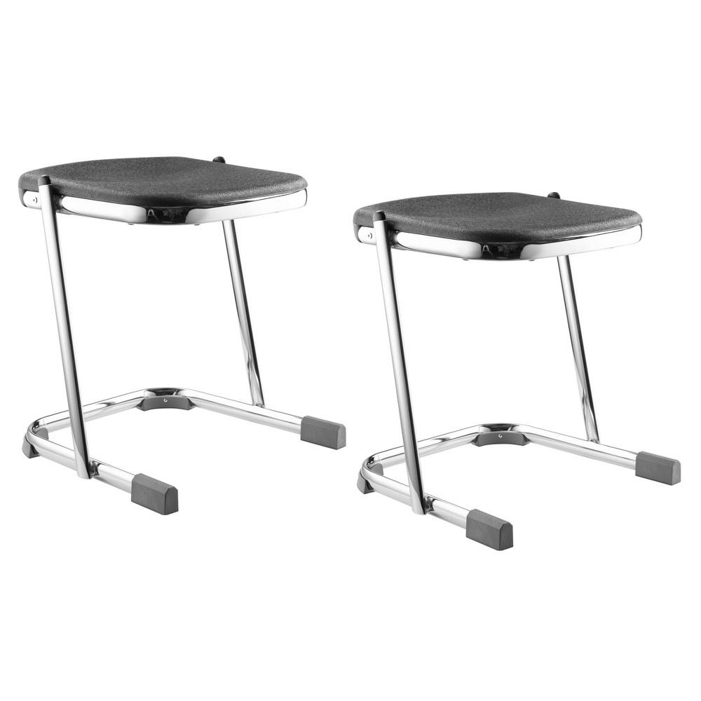 "Image of ""2pk 18"""" Elephant Z Stool Black - Hampton Collection"""