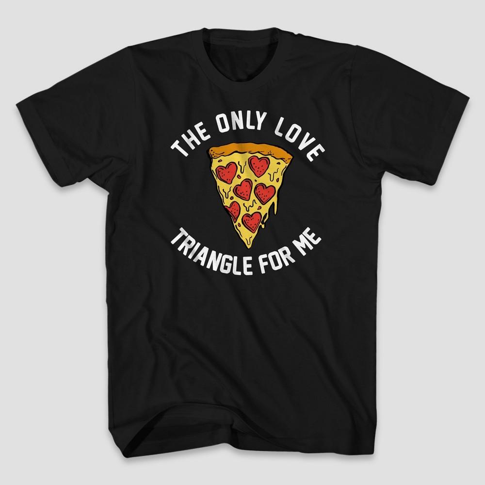 Men's Pizza Triangle Short Sleeve Graphic T-Shirt - Black M