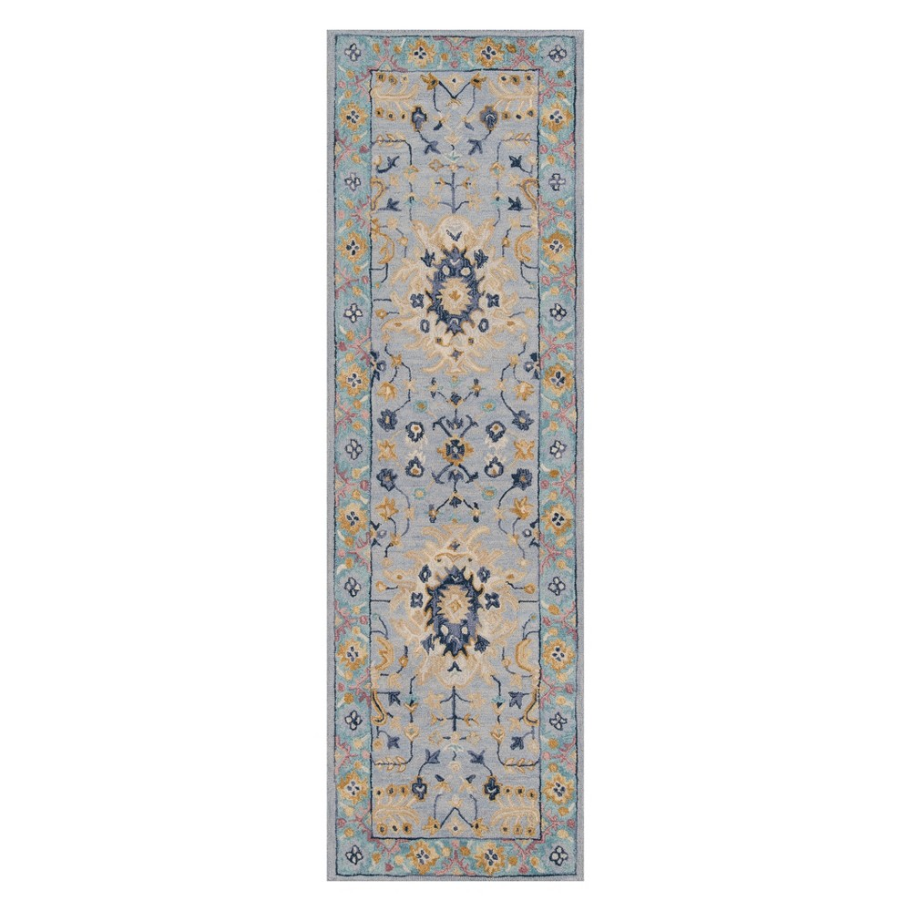 2'3X8' Floral Tufted Runner Blue - Momeni