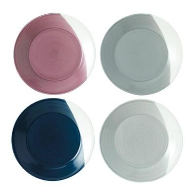 Royal Doulton 9.3  4pk Porcelain Bowls of Plenty Salad Plates White