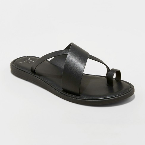 Women's Kallima Faux Leather Toe Ring Style Slide Sandals - A New Day™ - image 1 of 3