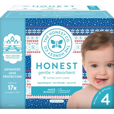 Honest Company Disposable Diapers Club Box - Size 4 (60ct)