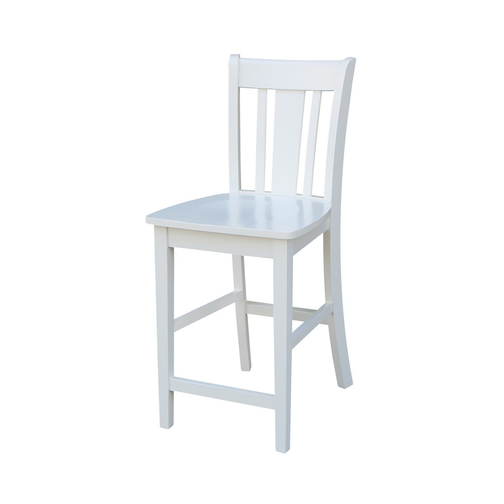 24.02 San Remo Counter height Stool White - International Concepts
