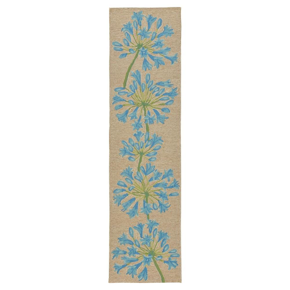 Blue Floral Tufted Runner 2'X8' - Liora Manne