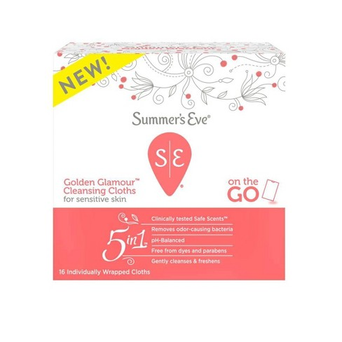 Summer's Eve Golden Glamour Wipes - 16ct - image 1 of 2