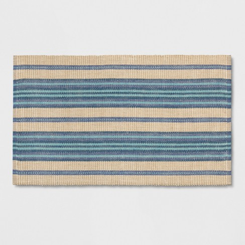 "Blue Multi Stripe Woven Accent Rug 2'6""X4'/30""X48"" - Threshold™ - image 1 of 3"