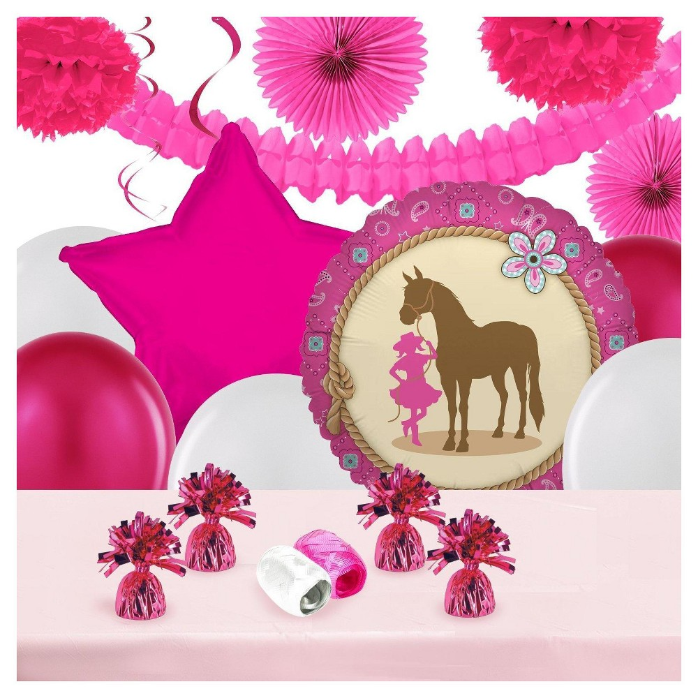 Western Cowgirl Party Decoration Kit
