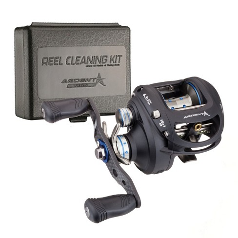 Ardent Apex Magnum Baitcaster Bundle with Reel Kleen Cleaning Kit for  Freshwater Reels