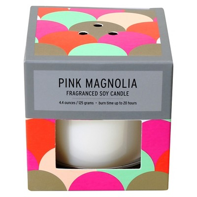 Boxed Glass Candle Pink Magnolia 4.4oz - Soho Brights