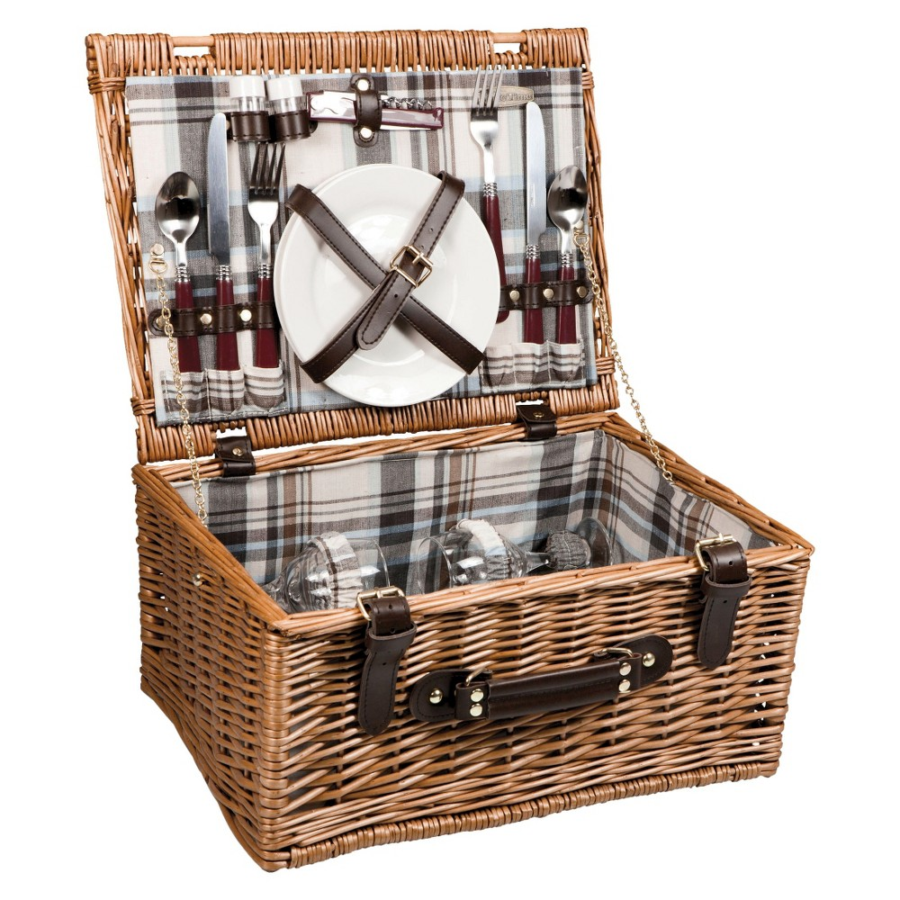 Image of Picnic Time Bristol Picnic Basket, Brown