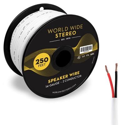 World Wide Stereo 14-Gauge, 2-Conductor Speaker Wire - 250 Feet