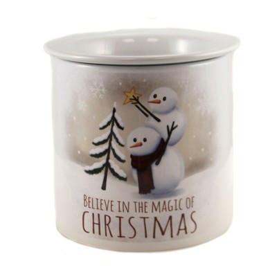 "Tabletop 5.5"" Believe Dip Chiller Snowmen Christmas Party Carson Home Accents  -  Serving Bowls"