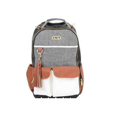 Itzy Ritzy Boss Backpack Diaper Bag - Coffee and Cream