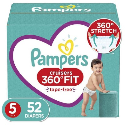 Pampers Cruisers 360 Disposable Diapers Super Pack - Size 5 (52ct)