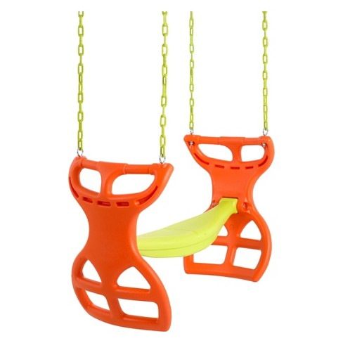 Swingan Two Seater Glider Swing - Orange/Yellow - image 1 of 4