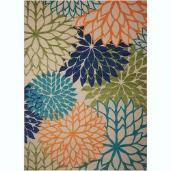 Nourison Aloha ALH05 Flowers Indoor/Outdoor Area Rug