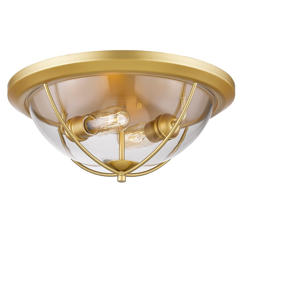 Flush Mount Ceiling Lights with Clear Glass (Set of 2) - Z-Lite