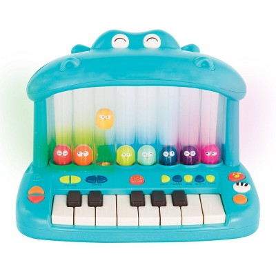 Land of B. Toy Piano for Kids Hippo Pop