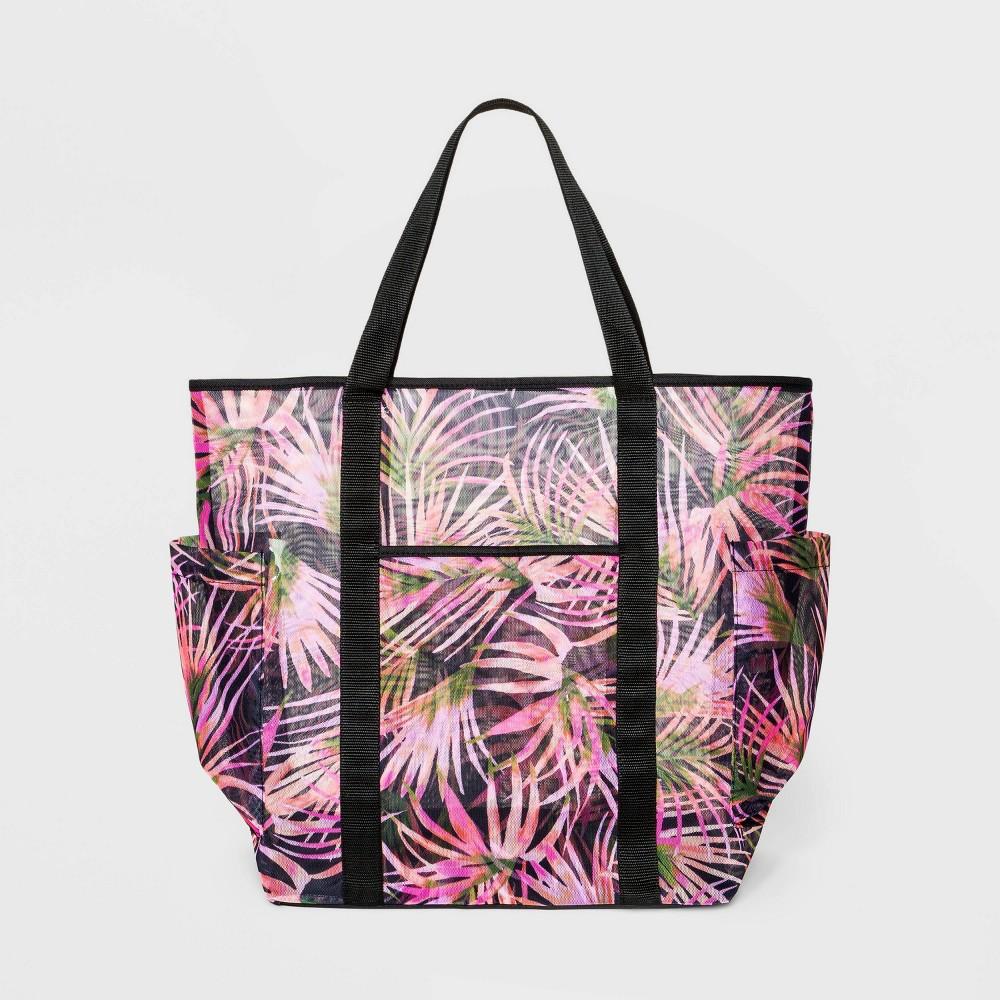 Leaf Print Mesh Tote Handbag Shade 38 Shore 8482