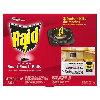 Raid Double Control Small Roach Baits - 0.63oz/12ct