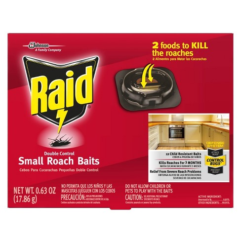 Raid Double Control Small Roach Baits - 0.63oz/12ct - image 1 of 4