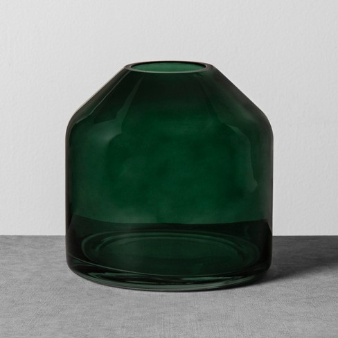 Glass Jug Vase Small Green Hearth Hand With Magnolia Target