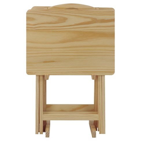 5pc Tray Table Set - Natural -  Flora Home - image 1 of 5