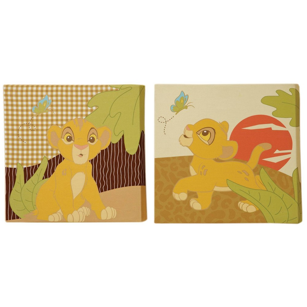Image of Disney Lion King Simba's Wild Adventure Canvas Wall Decor - 2pc