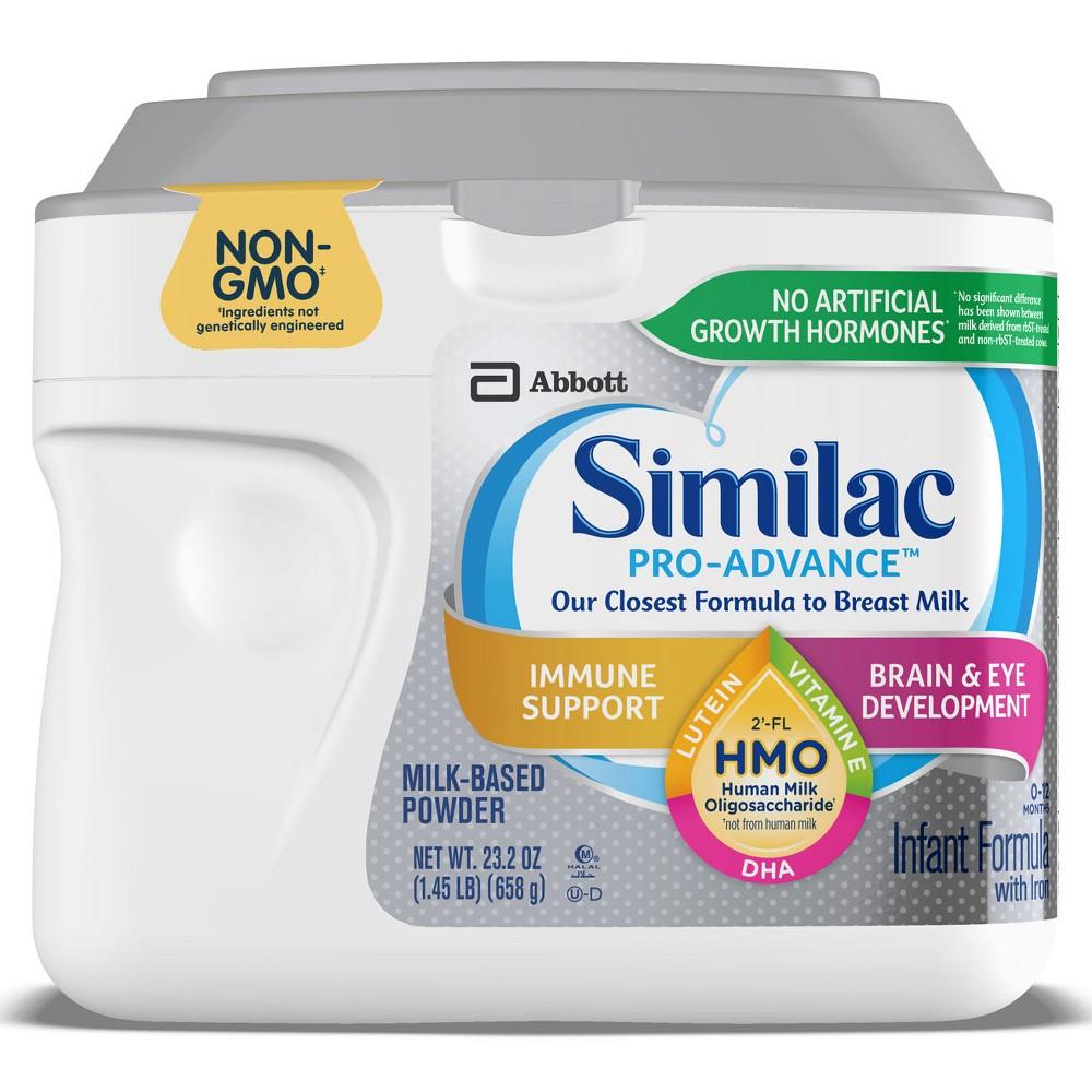 Similac Pro-Advance (Hmo) Non-Gmo Infant Formula Powder - 23.2oz