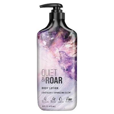 Quiet & Roar Lavender & Spirulina Body Lotion made with Essential Oils - 16 fl oz
