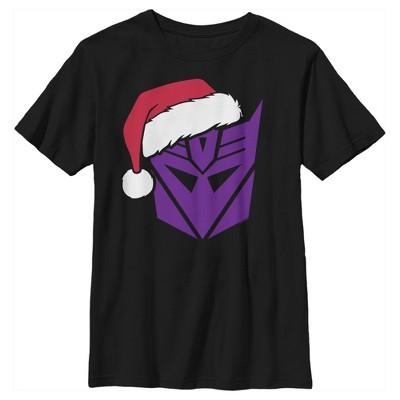 Boy's Transformers Decepticon Santa T-Shirt