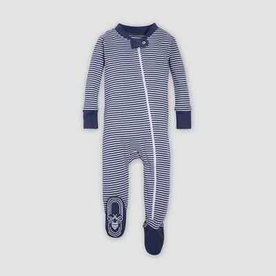 Burt's Bees Baby® Organic Cotton Boys' Classic Stripe Sleeper - Indigo 6-9M