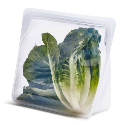 stasher Reusable Food Storage Mega Stand Up Bag - Clear
