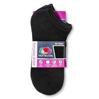 Fruit of the Loom Women's 6pk Athletic Socks - Black 4-10, Size: Small