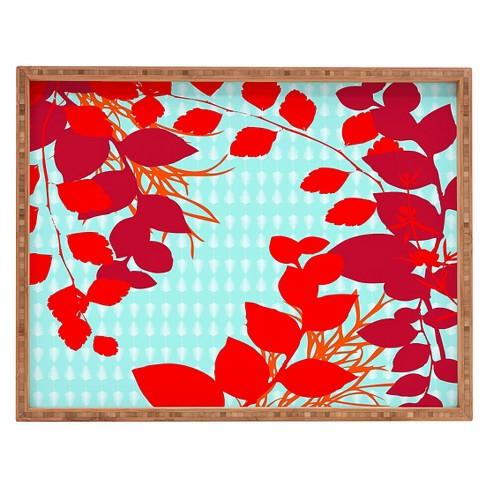 Caroline Okun Petiole Rectangle Tray - Red - Deny Designs - image 1 of 1