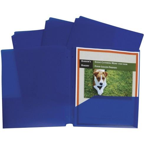 C-Line Poly Portfolio Folder, 3-Hole Punch, 2-Pocket, Blue, pk of 25 - image 1 of 1