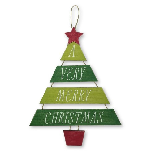 A Very Merry Christmas Tree Wooden Sign - Wondershop™ - image 1 of 1