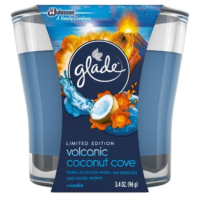 Glade Volcanic Coconut Cove Candle - 3.4oz