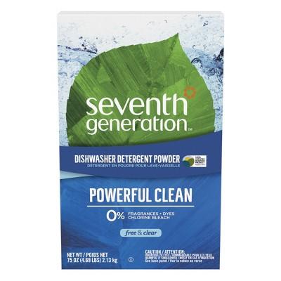 Seventh Generation Free & Clear Dishwasher Detergent Powder - 75oz