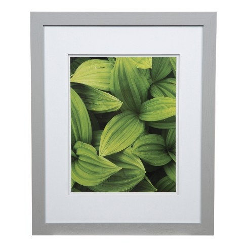 Single Image 16x20 Wide Double Mat Gray 11x14 Frame Gallery