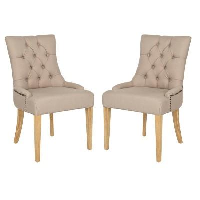 Set of 2 Ashley Dining Chair Wood - Safavieh