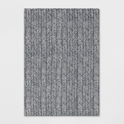 7'X10' Tufted Chevron Area Rug Light Gray - Project 62™