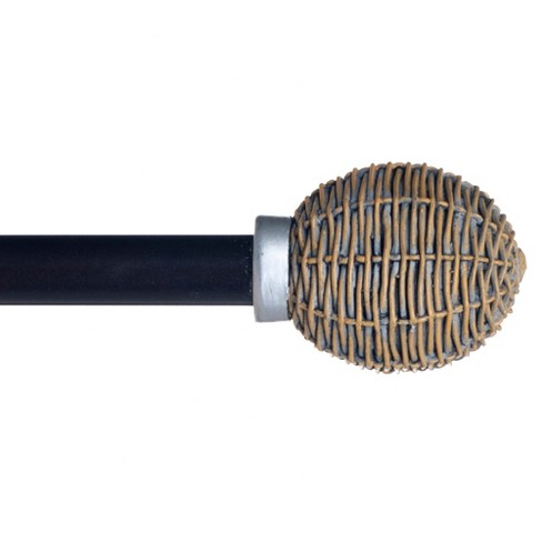 Yorkshire Home Basket Weave Curtain Rod - image 1 of 2