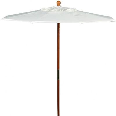 Oxford Garden 6 Ft. Octagonal Hardwood Patio Market Umbrella W/ Push Lift - Sunbrella Canvas Canvas - U6NA